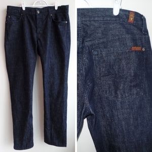 7 For All Mankind Jeans - 7 FOR ALL MANKIND Standard Very Dark Wash Jeans